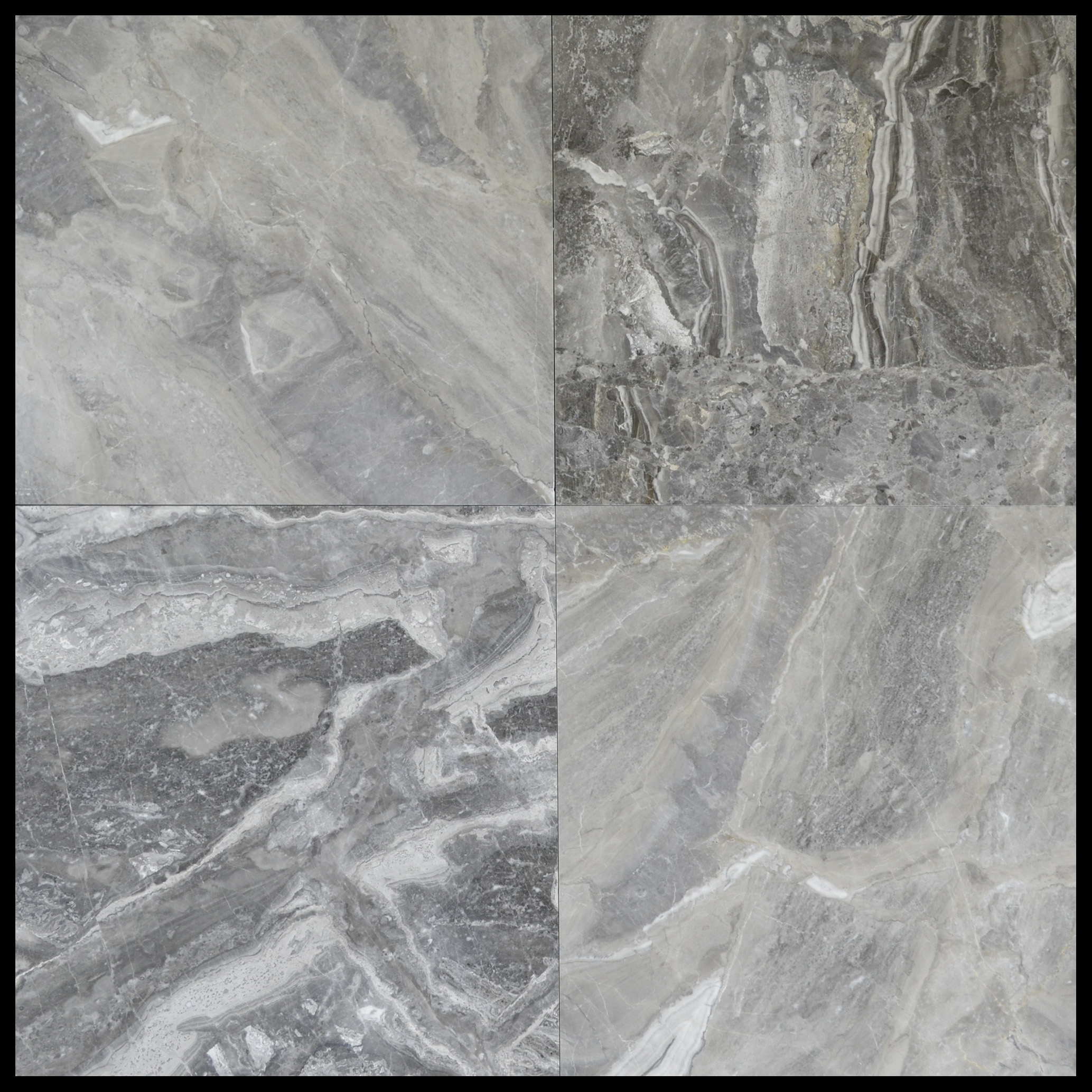 Silver fantasy polished marble tiles 18x18 1 1 for 18 x 18 marble floor tile