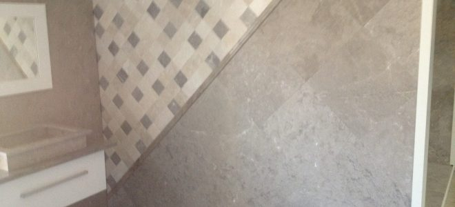 Install Travertine Tile Mosaic Accent Plus Boarder